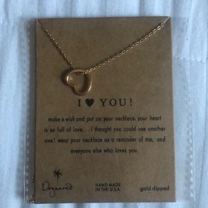 I love you dogeared necklace brand new
